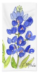 Bluebonnet Bath Towel by Kathleen McElwaine