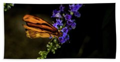 Hand Towel featuring the photograph Butterfly by Jay Stockhaus