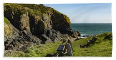 Hand Towel featuring the photograph Cadgwith Cove by Brian Roscorla