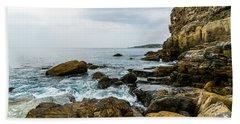 Coastline Of The Bay Bath Towel