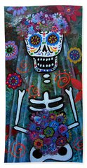 Day Of The Dead Bride Hand Towel