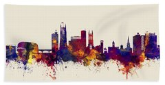 Derby England Skyline Hand Towel