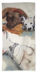 Dogs Dogs  Dogs Album Bath Towel