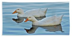 Bath Towel featuring the photograph 3- Ducks by Joseph Keane