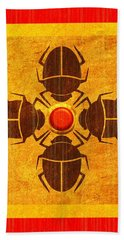 Hand Towel featuring the digital art Egyptian Scarab Beetle by John Wills