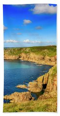 End Of The World - Cornwall Hand Towel by Chris Smith