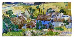 Farms Near Auvers Bath Towel