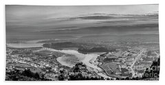 Hand Towel featuring the photograph Ferrol's Ria Panorama From Mount Ancos Galicia Spain by Pablo Avanzini