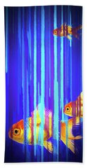 Hand Towel featuring the photograph 3 Fish by James Bethanis