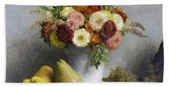 Flowers And Fruit Hand Towel