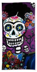 Frida Dia De Los Muertos Hand Towel