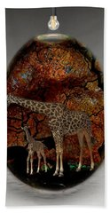 Giraffe Art Hand Towel
