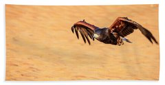 Hand Towel featuring the photograph Harris Hawk by Alexey Stiop