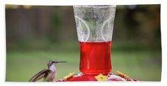 My Sweet Hummingbird Bath Towel