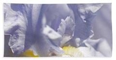 Iris Flowers Bath Towel