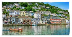 Looe In Cornwall Uk Hand Towel