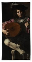 Lute Player Hand Towel