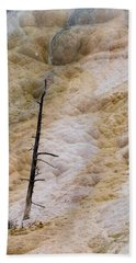 Mammoth Hot Spring Terraces Hand Towel