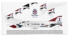 Mcdonnell Douglas F-4e Phantom II Thunderbirds Hand Towel