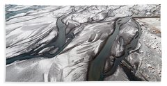 Hand Towel featuring the photograph Melting Ice Patterns In Iceland by Pradeep Raja PRINTS