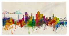 Middlesbrough England Skyline Hand Towel