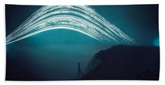 3 Month Exposure At Beachy Head Lighthouse Hand Towel