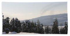 Norwegian Winter Landscape  Bath Towel