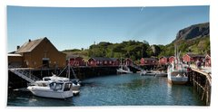 Nusfjord Fishing Village Bath Towel
