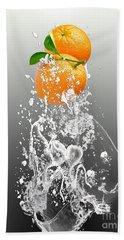 Orange Splash Hand Towel
