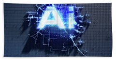 Pixel Artificial Intelligence Hand Towel