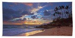 Poolenalena Sunset Hand Towel by James Roemmling