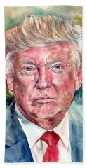 President Donald Trump Portrait Hand Towel
