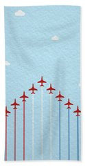 Raf Red Arrows In Formation Hand Towel