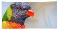 Rainbow Lorikeet Bath Towel by Craig Dingle