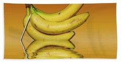 Ripe Yellow Bananas Bath Towel by David French
