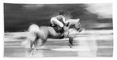 Rocking Horse Stables Ocala Florida Bath Towel