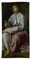 Saint John The Evangelist On The Island Of Patmos Hand Towel