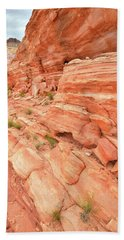 Bath Towel featuring the photograph Sandstone Wall In Valley Of Fire by Ray Mathis