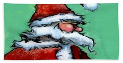 Santa Claus Bath Towel by Kevin Middleton