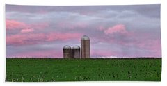 Bath Towel featuring the photograph 3 Silos by Robert Geary