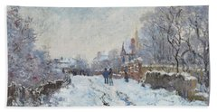 Snow Scene At Argenteuil Hand Towel