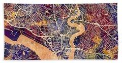 Southampton England City Map Bath Towel