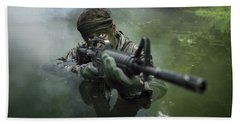 Special Operations Forces Soldier Hand Towel