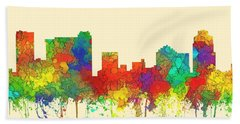 St Petersburg Florida Skyline Bath Towel