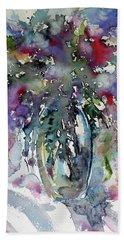 Hand Towel featuring the painting Still Life by Kovacs Anna Brigitta