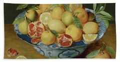 Still Life With Lemons, Oranges And A Pomegranate Bath Towel