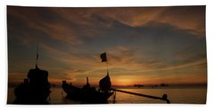 Sunrise On Koh Tao Island In Thailand Hand Towel