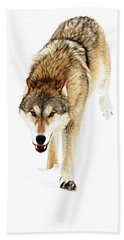 Hand Towel featuring the photograph The Attack by Steve McKinzie