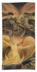 The Great Red Dragon And The Woman Clothed With The Sun Hand Towel