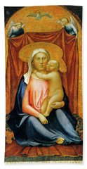 The Madonna Of Humility Bath Towel